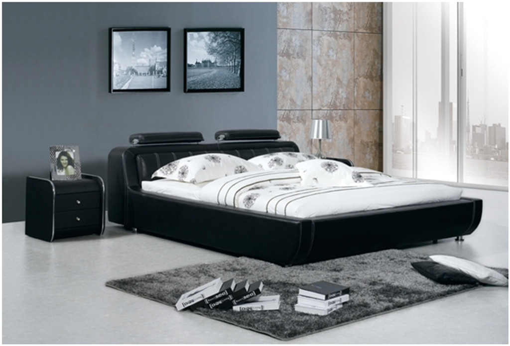 SEAN ELI KING 3 PIECE BEDSIDE BEDROOM SUITE WITH (#10 BEDSIDES) - LEATHERETTE - ASSORTED COLOURS