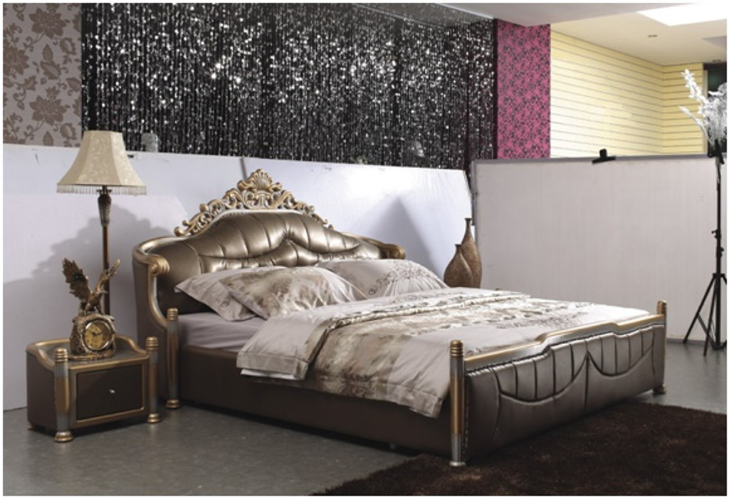 QUEEN SKYWALKER LEATHERETTE BED (A8180) - ASSORTED COLOURS
