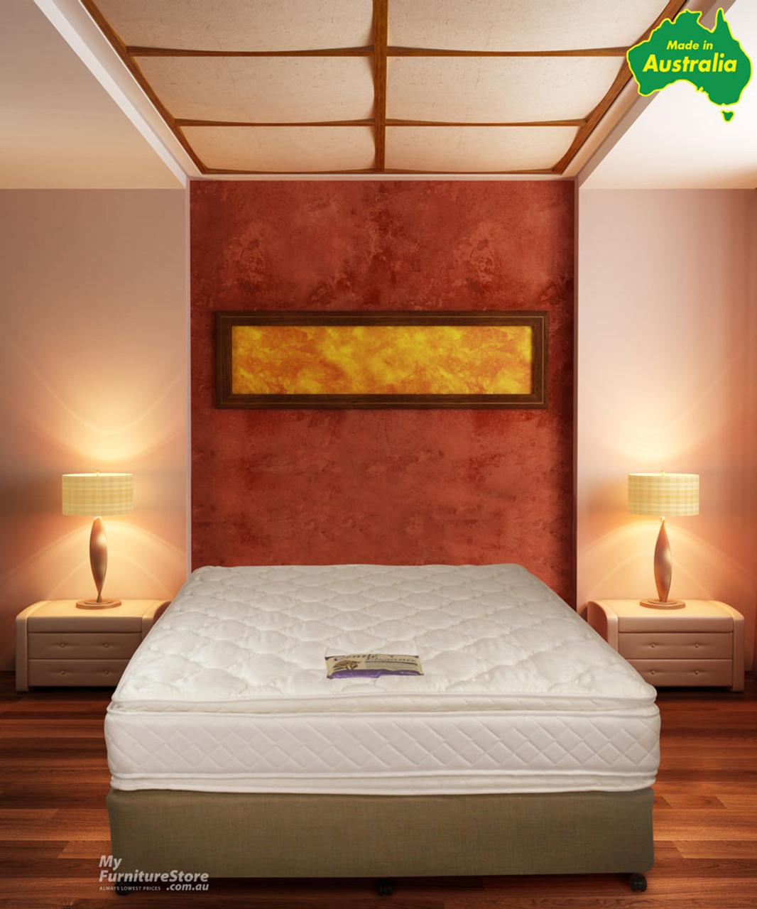double sided pillow top mattress. QUEEN EMBASSY DOUBLE SIDED PILLOW TOP MATTRESS - GENTLY FIRM Double Sided Pillow Top Mattress