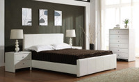 DOUBLE VICTOR  BED (BE-513) WITH GAS LIFT UNDERBED STORAGE - BLACK OR WHITE