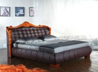 QUEEN (2817#) LEATHERETTE BED - ASSORTED COLOURS AVAILABLE