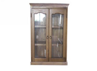 LIBRARY 2 DOOR DISPLAY CABINET (Z-2) - 1200(H) - BALTIC(#215) OR WALNUT(#219)