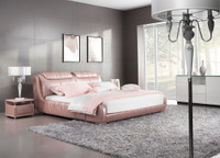 BALIGNO KING 3 PIECE BEDSIDE BEDROOM SUITE (WITH #132 BEDSIDES) - LEATHERETTE - ASSORTED COLOURS - (WITH OPTIONAL UPGRADE FOR GAS LIFT UNDERBED STORAGE)