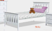 DOUBLE NICKY BED - WHITE (1977)