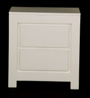 AMSTERDAM 2 DRAWER BEDSIDE (BS 002 TA)  - WHITE