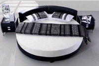 LANDERS ROUND LEATHERETTE BED (CD005) - ASSORTED COLORS