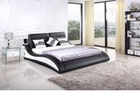 KING  LADEN LEATHERETTE BED -  IPHONE 5/6 SUPPORT / BLUETOOTH (CD022) - ASSORTED COLORS