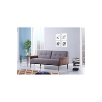 STASSI 3 SEATER SOFA BED - DARK GREY