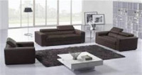 HERMIONE (F6014) 1 SEATER + 2 SEATER + 3 SEATER LEATHER/ETTE COMBINATION LOUNGE SUITE - ASSORTED COLOURS
