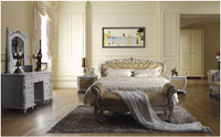 QUEEN CAMERON LEATHERETTE BED (A8122) - ASSORTED COLOURS