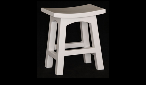 ZIMA WOODEN BAR STOOL (BR 048 WD) - SEAT: 480(H) - WHITE