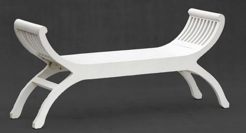 ORNAMENTAL 2 SEATER STOOL (CH 002 TW) - WHITE