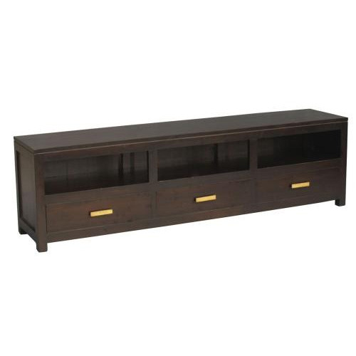 MILAN 3 DRAWER LOW ENTERTAINMENT UNIT (SB 003 PNM ) -  1900(W) - MAHOGANY OR CHOCOLATE - (MODEL 13-9-12-1-14)