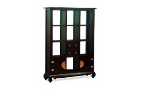 CHINESE 2 DOOR 2 DRAWER  DIVIDER (SC-202-CSN) - 1800(H) x 1150(W) - MAHOGANY OR CHOCOLATE