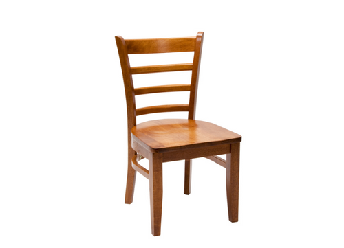 JAGUAR DINING CHAIR WITH TIMBER SEAT (JAG CH 1PA T) - ANTIQUE OAK