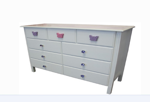 WITH STANDARD WOODEN WHITE KNOBS (NOT AS PICTURED)
