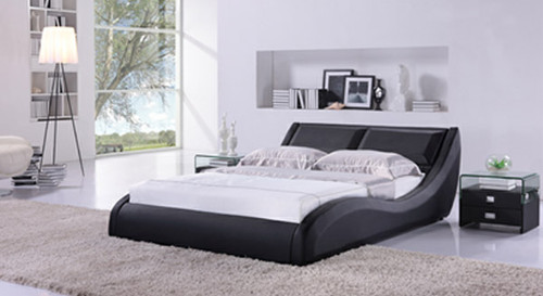 KING BARI (G889) LEATHERETTE BED - ASSORTED COLOURS AVAILABLE