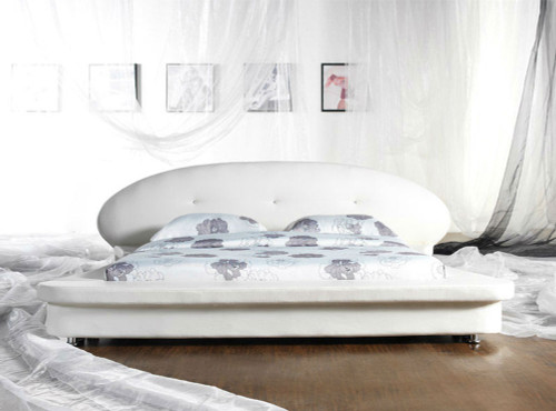 QUEEN SASSARI (G869#) LEATHERETTE BED - ASSORTED COLOURS AVAILABLE