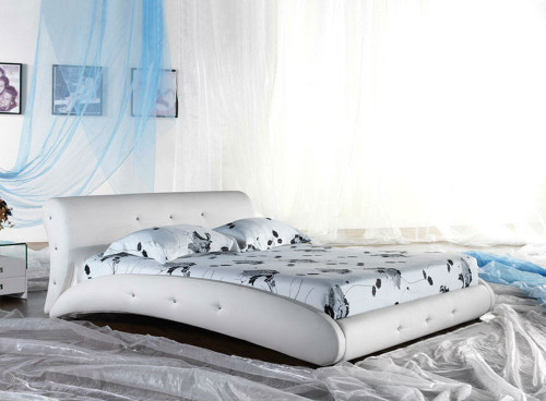 KING SALERNO (G870#) LEATHERETTE BED - ASSORTED COLOURS AVAILABLE