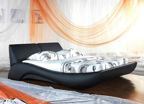 QUEEN TERNI (V2#) LEATHERETTE BED - ASSORTED COLOURS AVAILABLE