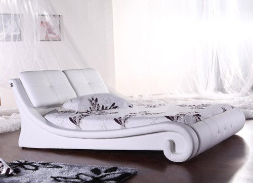 QUEEN MARSALA (G823#) LEATHERETTE BED - ASSORTED COLOURS AVAILABLE