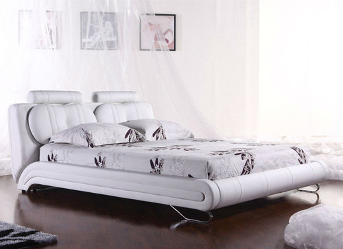 QUEEN (2815#) LEATHERETTE BED - ASSORTED COLOURS AVAILABLE