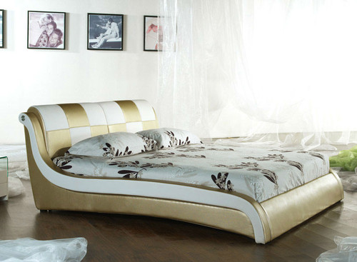 QUEEN (2859#) LEATHERETTE BED - ASSORTED COLOURS AVAILABLE