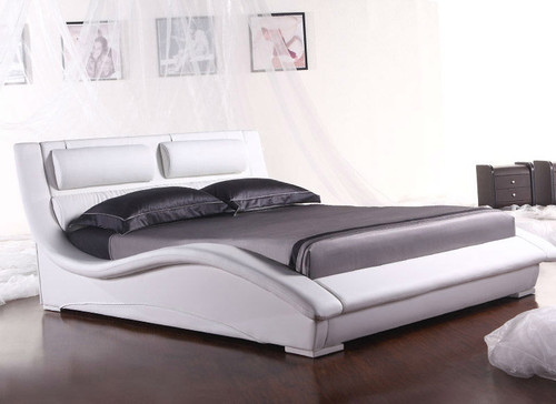 QUEEN (2840#) LEATHERETTE BED - ASSORTED COLOURS AVAILABLE