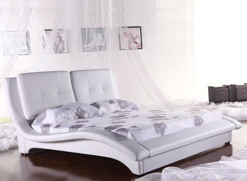 QUEEN (2813#) LEATHERETTE BED - ASSORTED COLOURS AVAILABLE
