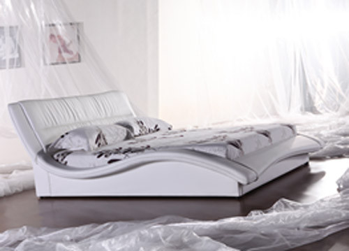 QUEEN (2821#) LEATHERETTE BED - ASSORTED COLOURS AVAILABLE
