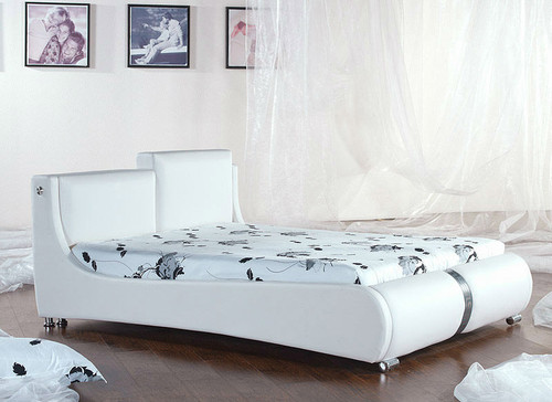 QUEEN (2887#) LEATHERETTE BED - ASSORTED COLOURS AVAILABLE