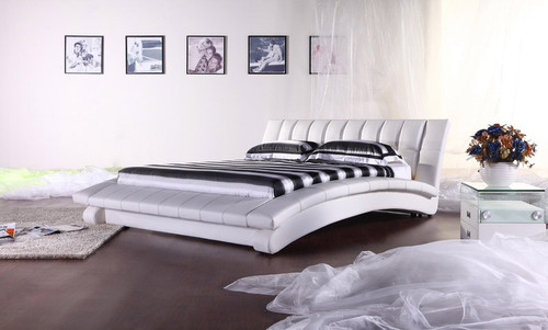 KING (2877#) LEATHERETTE BED - ASSORTED COLOURS AVAILABLE