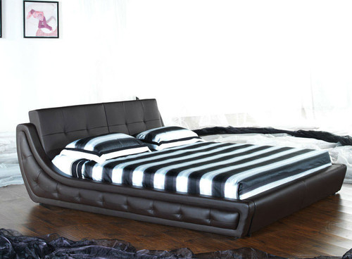 QUEEN (G856#) LEATHERETTE BED - ASSORTED COLOURS AVAILABLE