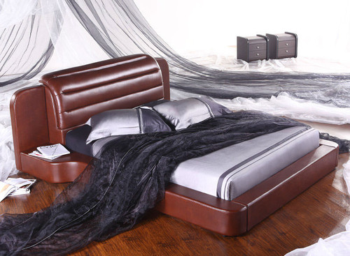 QUEEN (G896#) LEATHERETTE BED - ASSORTED COLOURS AVAILABLE