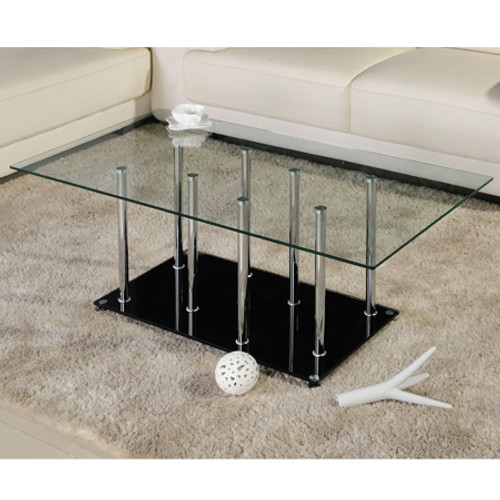 ULTRA MODERN (UCT438) GLASS TOP COFFEE TABLE -430(H) X 1100(W) X 600(D)