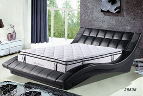 QUEEN FLINDERS (2880#) LEATHERETTE BED - ASSORTED COLOURS