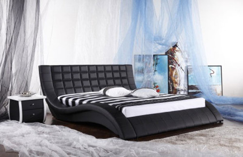 KING (G921#) LEATHERETTE BED - ASSORTED COLOURS AVAILABLE