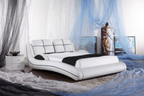 QUEEN (G925#) LEATHERETTE BED - ASSORTED COLOURS AVAILABLE