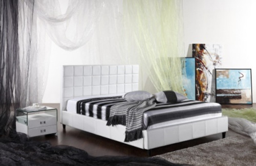 QUEEN MONTROSE (G939#) LEATHERETTE & NON-WOVEN FABRIC BED - ASSORTED COLOURS AVAILABLE