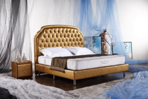 QUEEN (G956#) LEATHERETTE BED - ASSORTED COLOURS AVAILABLE