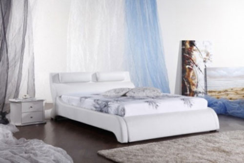 QUEEN (G961#) LEATHERETTE BED - ASSORTED COLOURS AVAILABLE