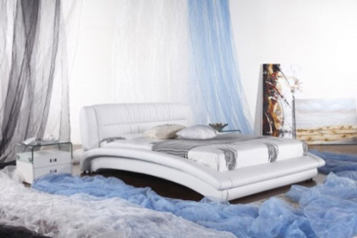 QUEEN (G962#) LEATHERETTE BED - ASSORTED COLOURS AVAILABLE