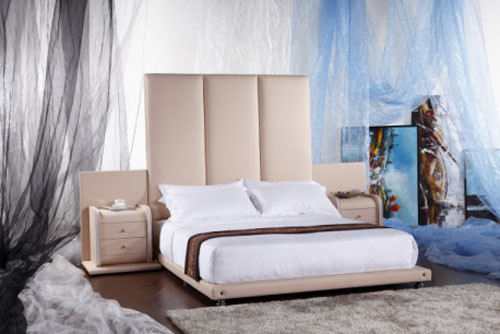 QUEEN (G964#) LEATHERETTE BED - ASSORTED COLOURS AVAILABLE