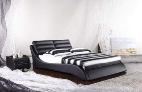 QUEEN (G965#) LEATHERETTE BED - ASSORTED COLOURS AVAILABLE
