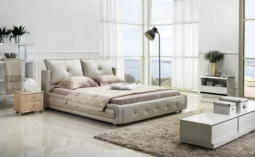KING (G983#) LEATHERETTE BED - ASSORTED COLOURS AVAILABLE