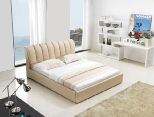 QUEEN (G986#) LEATHERETTE BED - ASSORTED COLOURS AVAILABLE