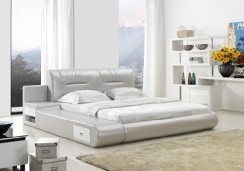 QUEEN (G989#) LEATHERETTE BED - ASSORTED COLOURS AVAILABLE