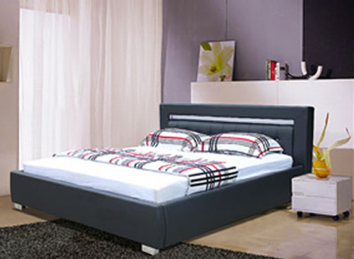 QUEEN (2853#) LEATHERETTE BED - ASSORTED COLOURS AVAILABLE