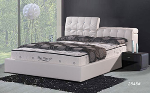 QUEEN (2845#) LEATHERETTE BED - ASSORTED COLOURS AVAILABLE