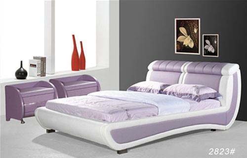 QUEEN (2823#) LEATHERETTE BED - ASSORTED COLOURS AVAILABLE